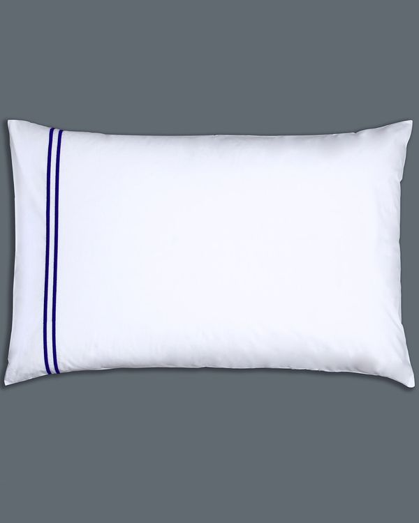 Francis Brennan the Collection Navy Stripe Housewife Pillowcase