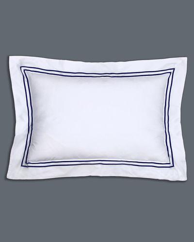 Francis Brennan the Collection Navy Stripe Oxford Pillowcase