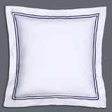 navy Francis Brennan the Collection Euro Navy Stripe Pillowcase