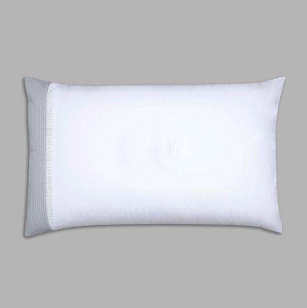 Francis Brennan the Collection Contrast Pintuck Lattice Housewife Pillowcase