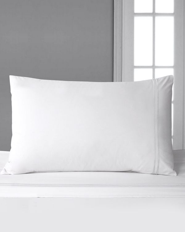 Francis Brennan the Collection White Stripe Housewife Pillowcase
