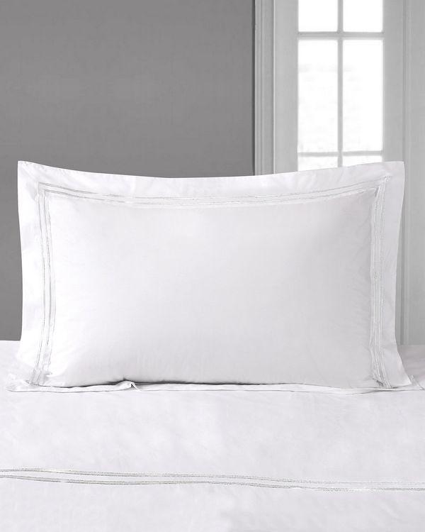 Francis Brennan the Collection White Stripe Oxford Pillowcase