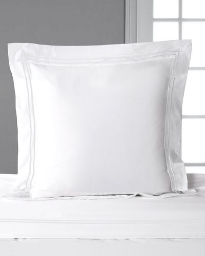 Francis Brennan the Collection White Stripe Euro Pillowcase