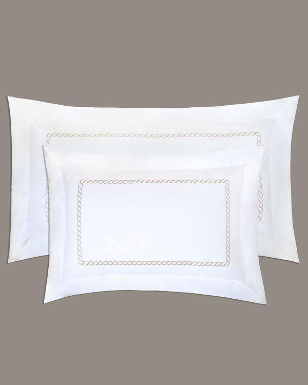 Francis Brennan the Collection Mink Braid King Oxford Pillowcase