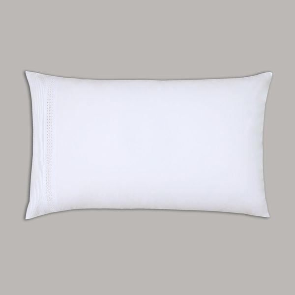 Francis Brennan the Collection White Pintuck Lattice Housewife Pillowcase