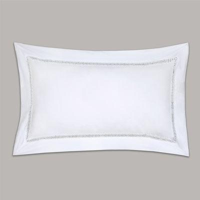 Francis Brennan the Collection White Pintuck Lattice Oxford Pillowcase