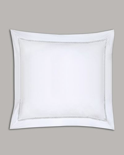 Francis Brennan the Collection White Pintuck Lattice Euro Pillowcase thumbnail