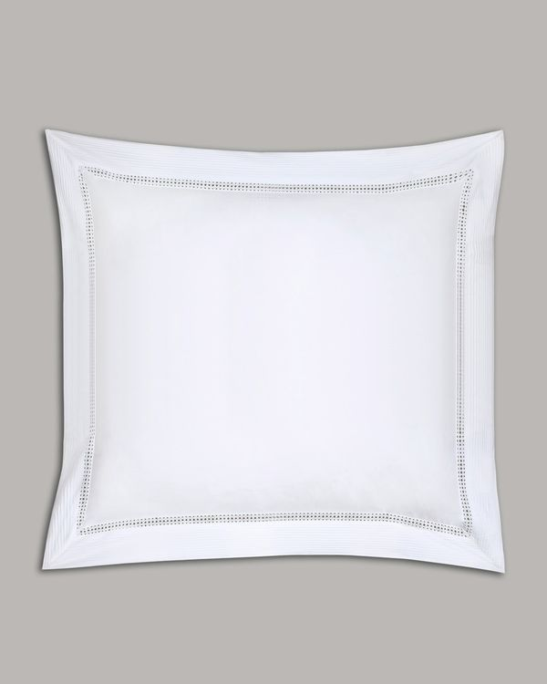 Francis Brennan the Collection White Pintuck Lattice Euro Pillowcase