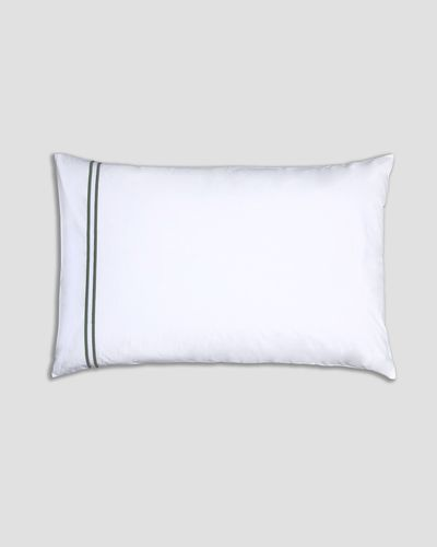Francis Brennan the Collection Sage Double Stripe Housewife Pillowcase