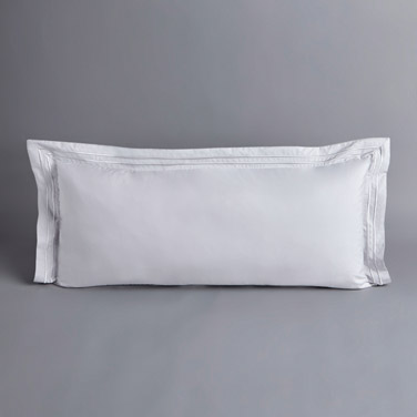Francis Brennan the Collection Grey Double Stripe Bolster Cushion