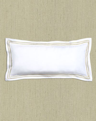 Francis Brennan the Collection Gold Stripe Bolster Cushion