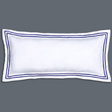 navy Francis Brennan the Collection Navy Stripe Bolster Cushion