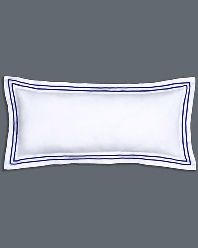 Francis Brennan the Collection Navy Stripe Bolster Cushion