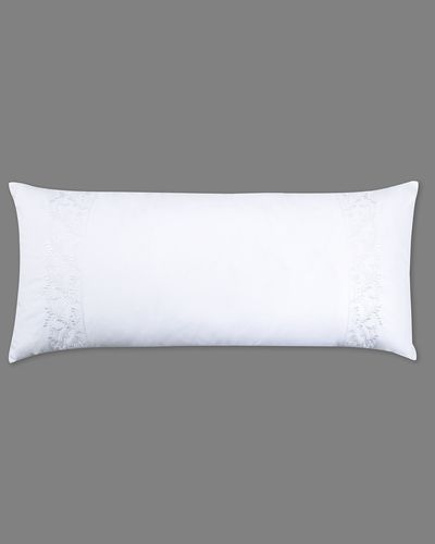Francis Brennan the Collection White Embroidered Leaf Bolster