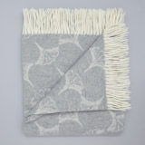 light-grey Francis Brennan the Collection Wool and Cashmere Throw