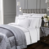 grey Francis Brennan the Collection Quilted Velvet Bedspread
