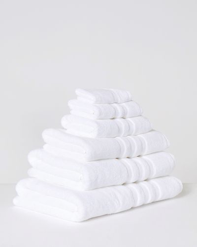 Francis Brennan the Collection White Rope Border Towel