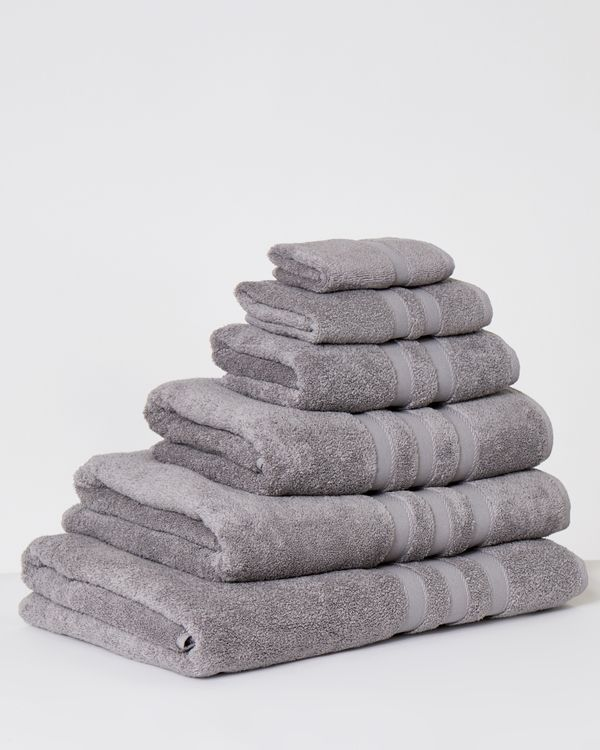 Francis Brennan the Collection Grey Rope Border Towel