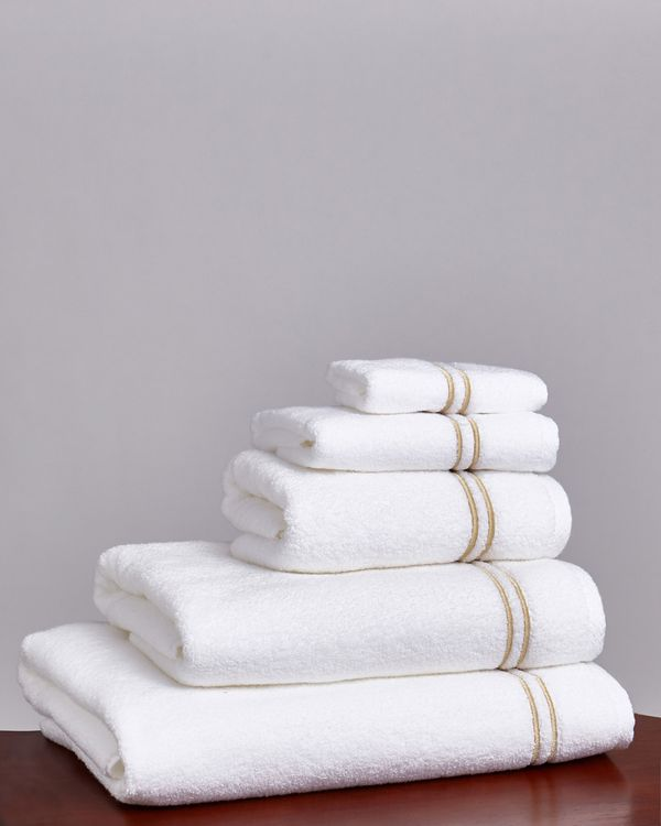 Francis Brennan the Collection Gold Double Stripe Towel
