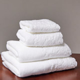 white Francis Brennan the Collection Scalloped Towel