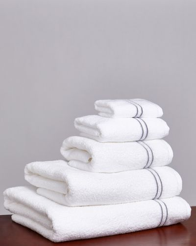 Francis Brennan the Collection Grey Stripe Towel