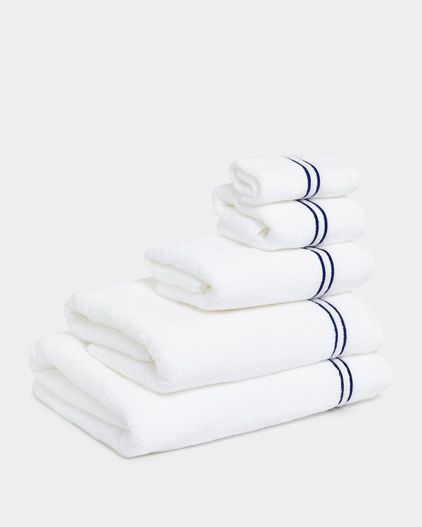 Francis Brennan the Collection Navy Stripe Towel