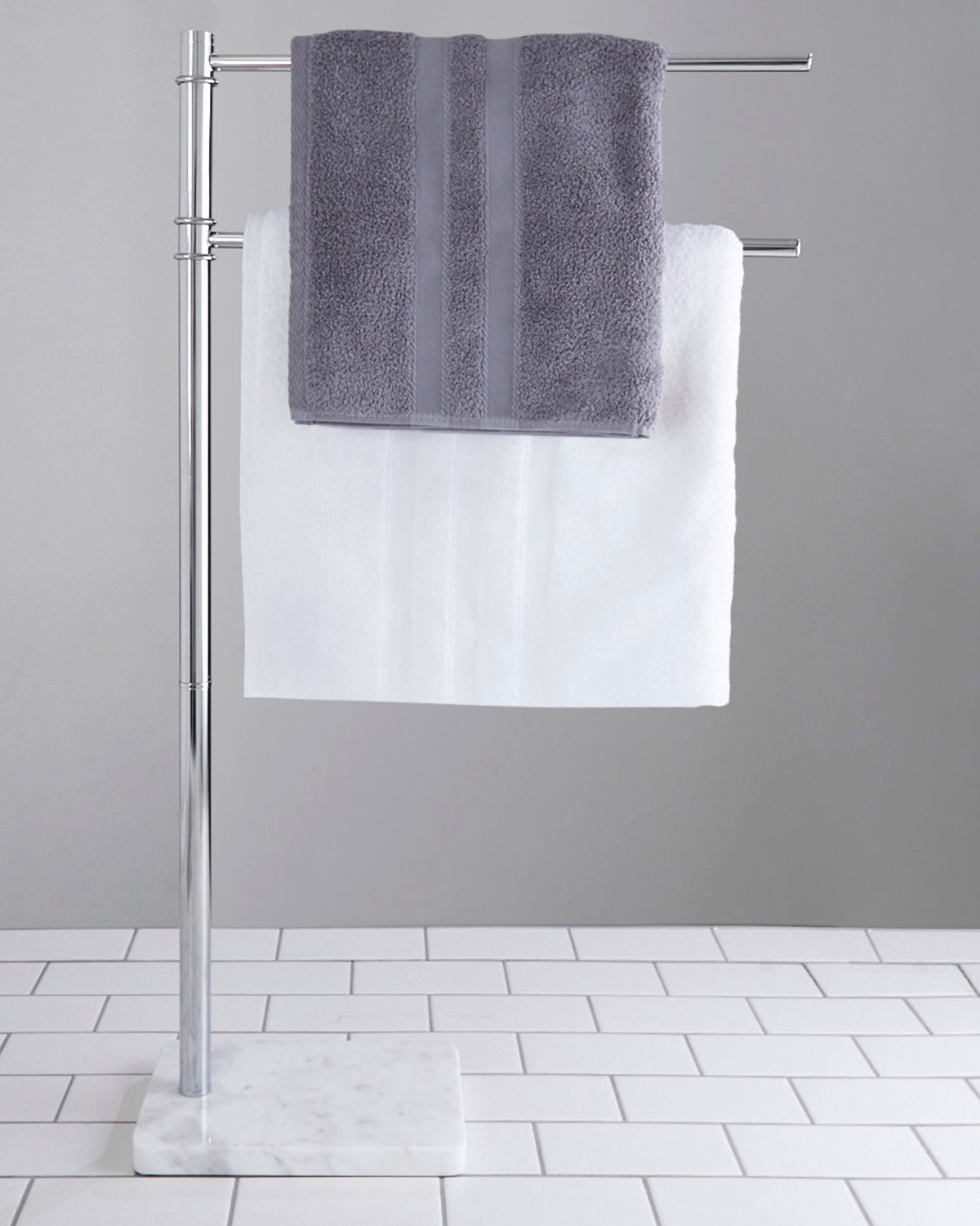 Dunnes Stores Light Grey Francis Brennan The Collection Italian Marble Towel Rail
