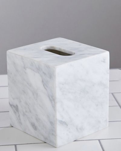 Francis Brennan the Collection Italian Marble Tissue Box Holder