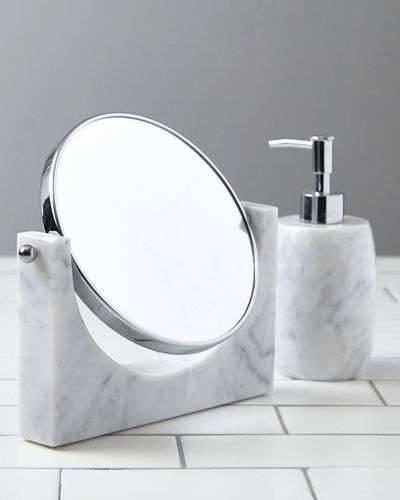 Francis Brennan the Collection Italian Marble Vanity Mirror