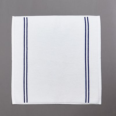 Francis Brennan the Collection Navy Stripe Square Bath Mat