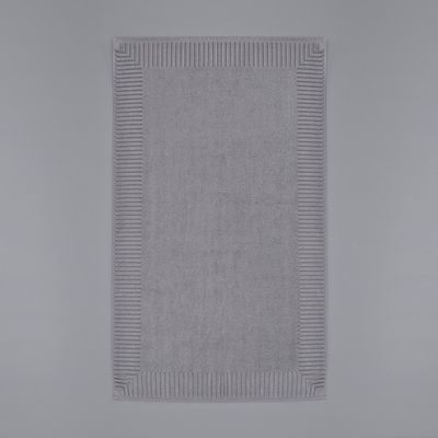 Francis Brennan the Collection Grey Rectangle Bath Mat