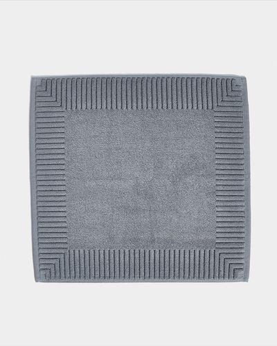 Francis Brennan the Collection Luxury Grey Square Bath Mat thumbnail
