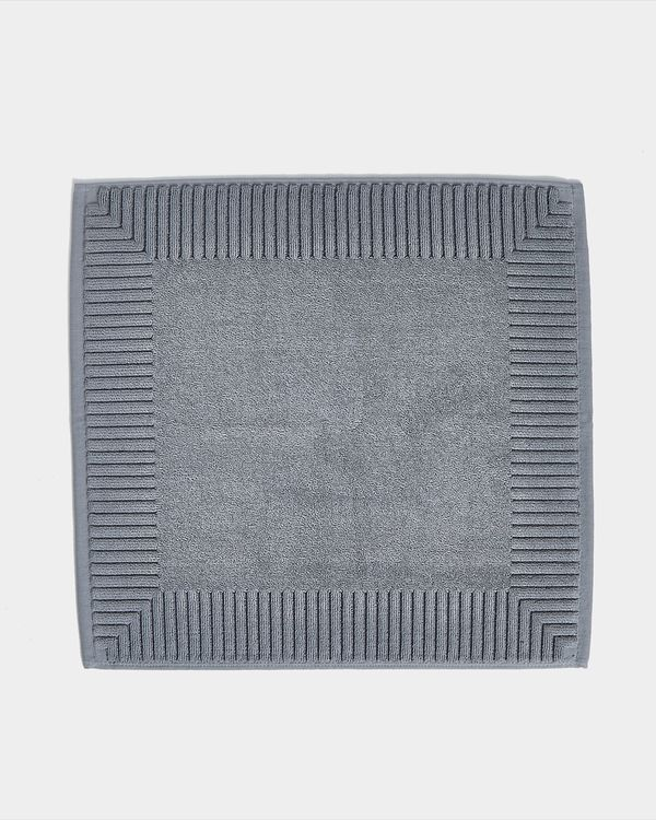 Francis Brennan the Collection Luxury Grey Square Bath Mat