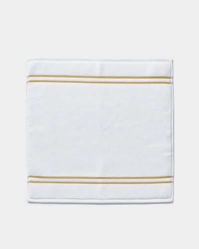 Francis Brennan the Collection Gold Stripe Square Bath Mat