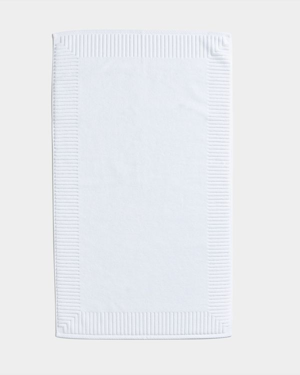 Francis Brennan the Collection White Rectangle Bath Mat