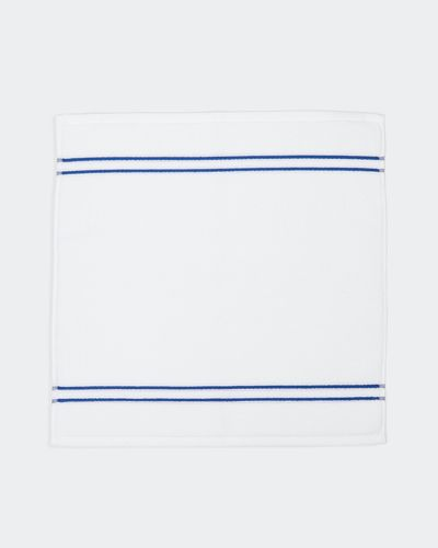 Francis Brennan the Collection Navy Stripe Square Bath Mat thumbnail