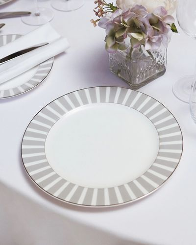 Francis Brennan the Collection Stripe Bone China Dinner Plate