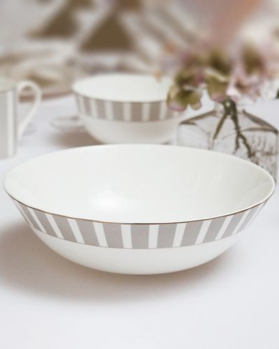 Francis Brennan the Collection Stripe Bone China Serving Bowl