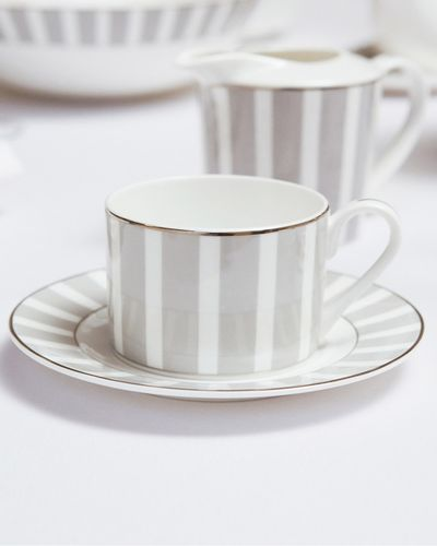 Francis Brennan the Collection Stripe Bone China Teacup And Saucer