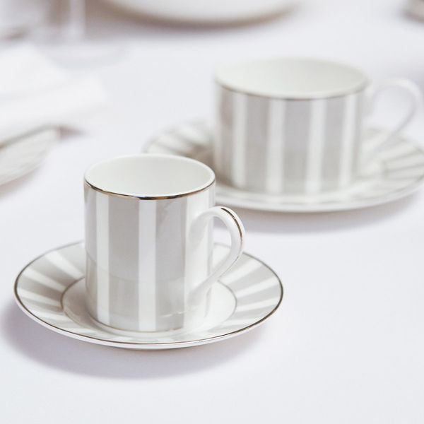 Francis Brennan the Collection Stripe Bone China Espresso Set