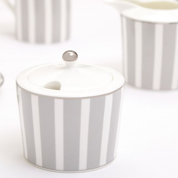 Francis Brennan the Collection Stripe Sugar Bowl And Lid