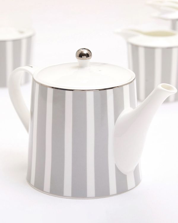 Francis Brennan the Collection Stripe Bone China Teapot