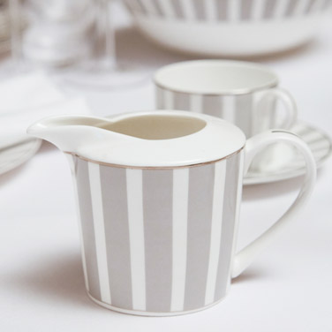 Francis Brennan the Collection Stripe Bone China Creamer