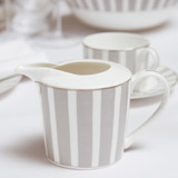 light-grey Francis Brennan the Collection Stripe Bone China Creamer