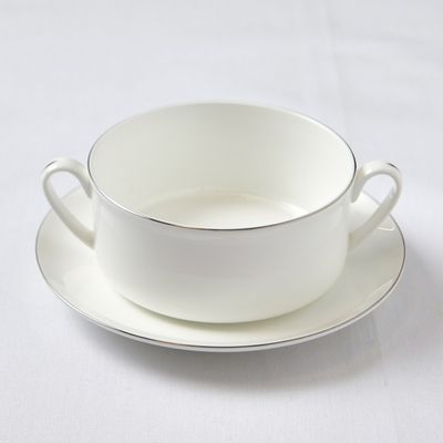 Francis Brennan the Collection Platinum Soup Bowl With Saucer