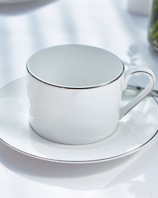 Francis Brennan the Collection Platinum Teacup And Saucer