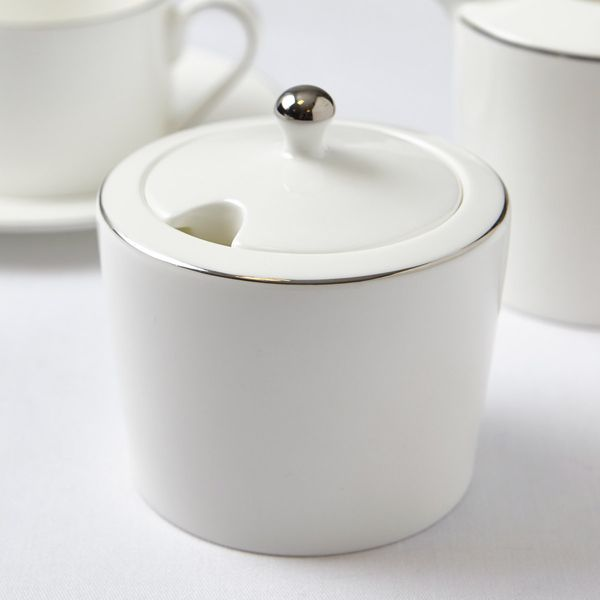 Francis Brennan the Collection Platinum Sugar Bowl With Lid