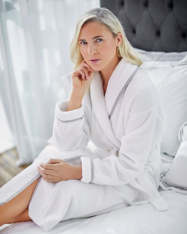 Francis Brennan the Collection Luxury Terry Hotel White Robe