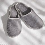 grey Francis Brennan the Collection Luxury Terry Hotel Slippers