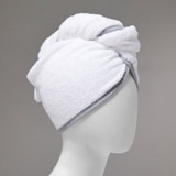 white Francis Brennan the Collection Hair Turban